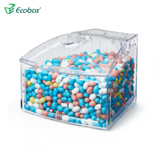 Ecobox SPH-010 Arc shape small bulk food bin for supermarket shelf