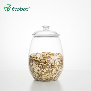 Ecobox SPH-FB220 airtight round candy jar fish tank herbs can nuts storage box